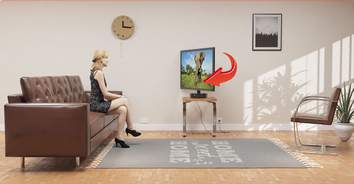 If the viewer is on the left ,the Base will turn TV to the left.
